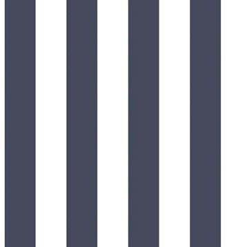 Papier peint intissé bleu/blanc