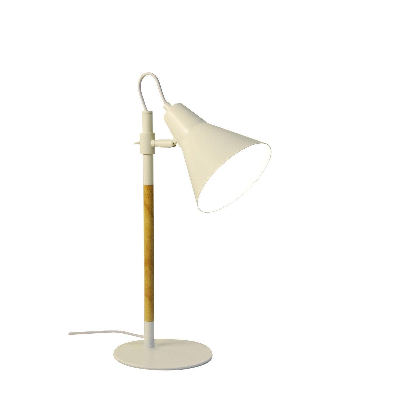 Lampe de bureau, e14 à fixer blanc Irvine INSPIRE