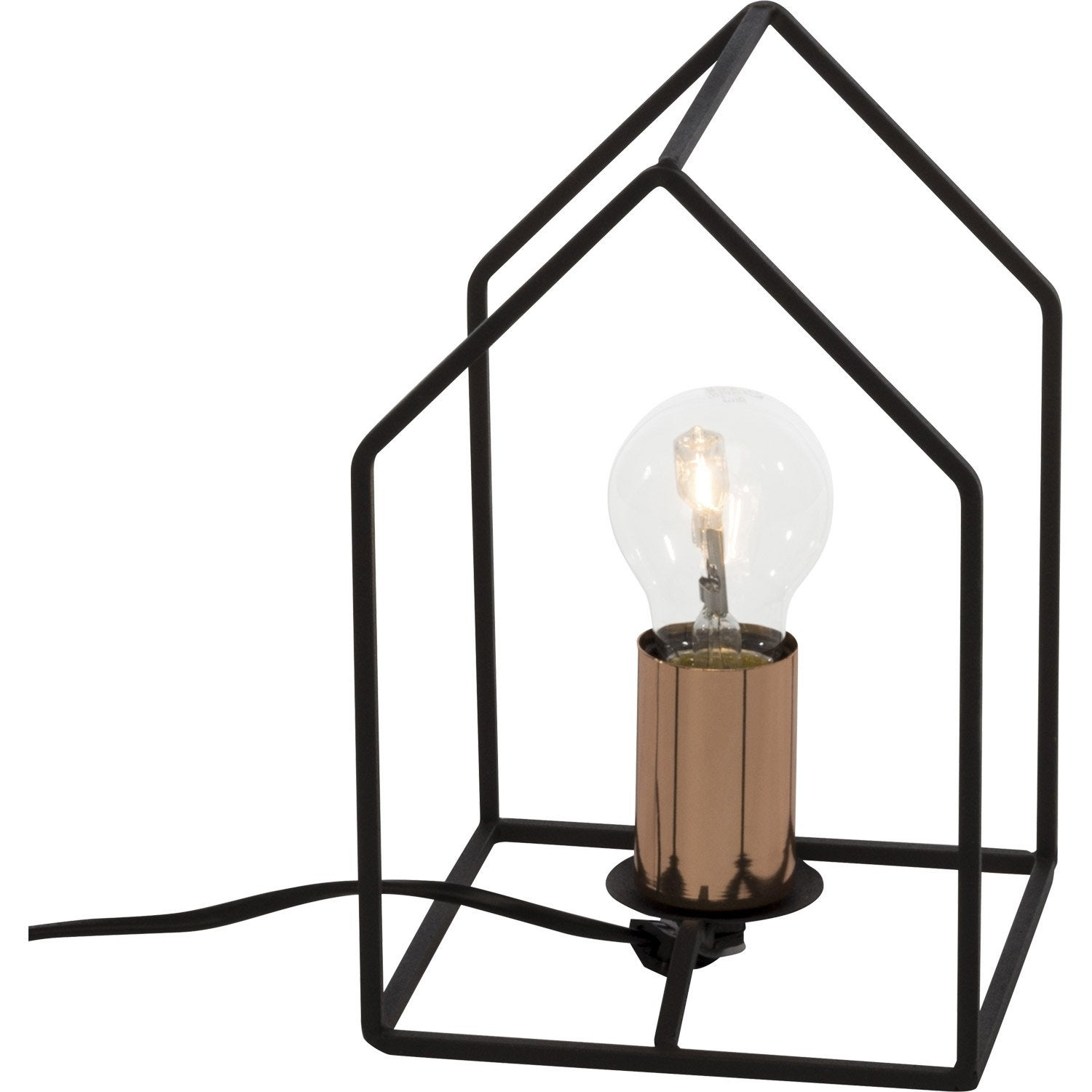 Lampe Design Metal Noir Cuivre Brilliant Home Leroy Merlin