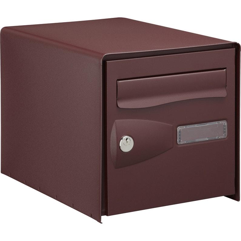 Boîte Aux Lettres Normalisée 2 Portes Extérieur Decayeux Acier Rouge Mat