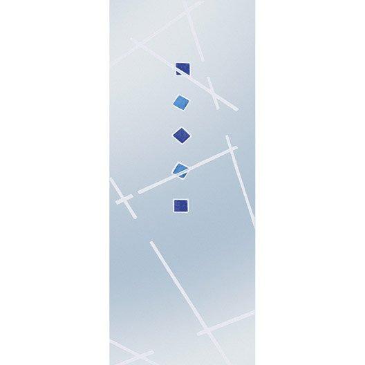 Porte coulissante verre tremp fusion eclisse 204 x 83 cm for Dimension porte interieur 83