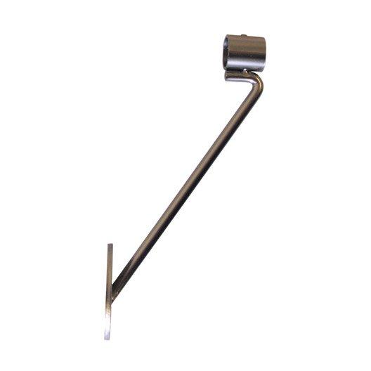 Jambe de force pour tringle rideau horsesteel acier for Cable acier pour rideau