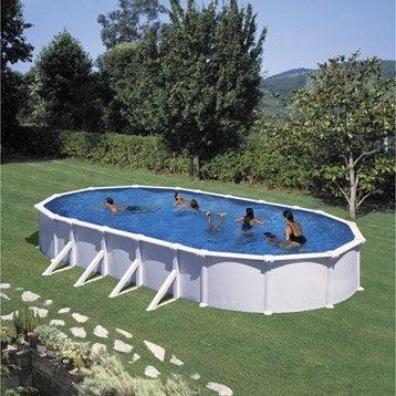 Piscine piscine et spa leroy merlin for Piscine hors sol acier ovale