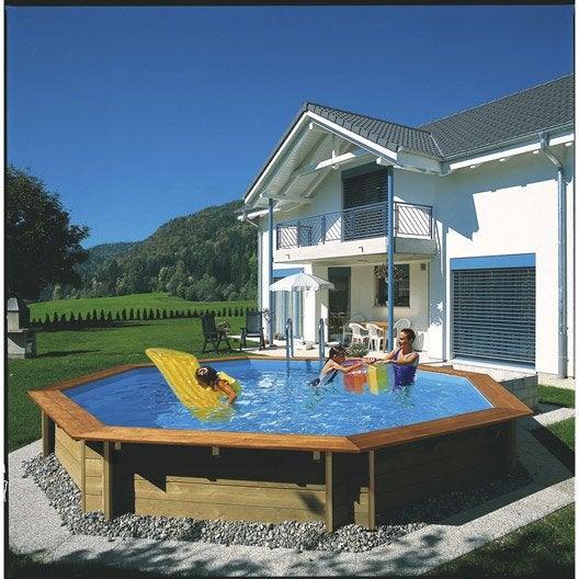 piscine hors sol bois odyssea octo 530 procopi ronde diam 5 3 m leroy merlin. Black Bedroom Furniture Sets. Home Design Ideas