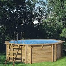 Piscine piscine hors sol gonflable tubulaire leroy for Piscine hors sol imitation bois