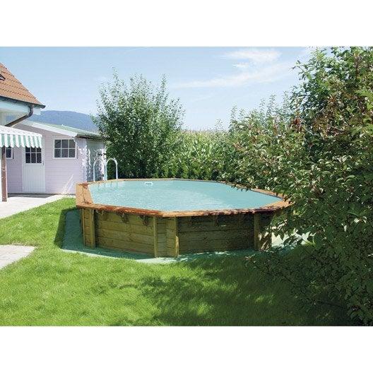 piscine hors sol bois odyssea procopi octogonale leroy merlin. Black Bedroom Furniture Sets. Home Design Ideas