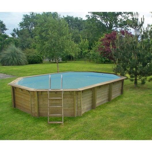 Piscine hors sol bois weva procopi octogonale for Procopi piscine