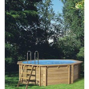 piscine hors sol bois procopi weva octo 440 ronde. Black Bedroom Furniture Sets. Home Design Ideas