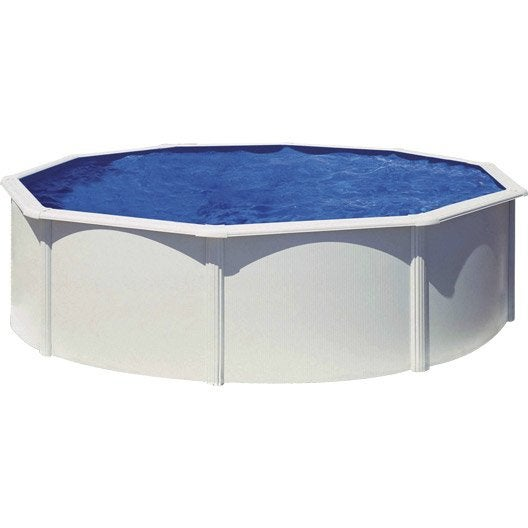 piscine hors sol acier san clara diam 3 5 x h 1 2 m leroy merlin. Black Bedroom Furniture Sets. Home Design Ideas