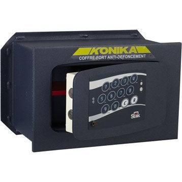 Coffre-fort haute sécurité à code STARK Konika, H23xl36xP19.5cm, 10.7L