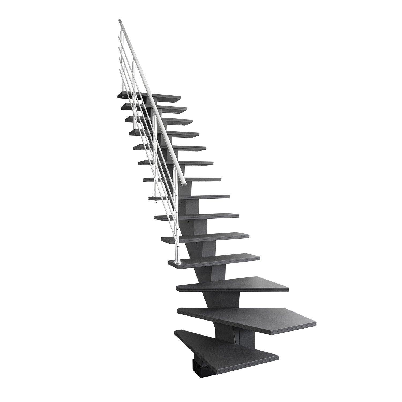 escalier quart tournant gauche bas