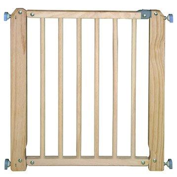 Barrière de sécurité enfant en bois naturel, long. min/max 70/76 cm, H73 cm