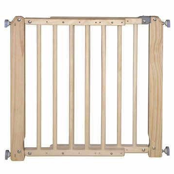 Barrière de sécurité enfant Europa 4 bois,  long. min/max 69/105 cm, H73 cm