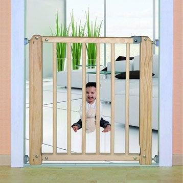 Barrière de sécurité enfant Viva 73-3 bois,  long. min/max 70/76 cm, H73 cm