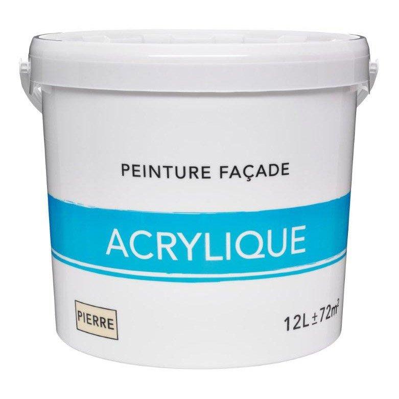 Peinture Façade Acrylique Ton Pierre L Leroy Merlin - Peinture acrylique pour mur exterieur