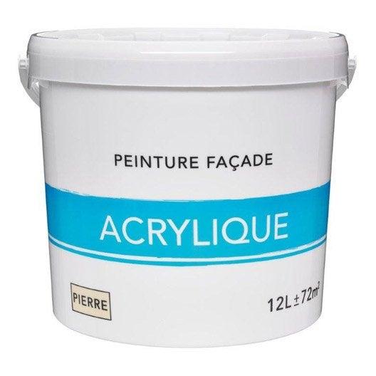 Peinture fa ade acrylique ton pierre 12 l leroy merlin for Prix peinture crepi exterieur