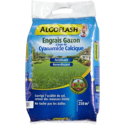 Engrais gazon antimousse algoflash 12 5 kg 250 m leroy merlin - Produit anti mousse gazon ...