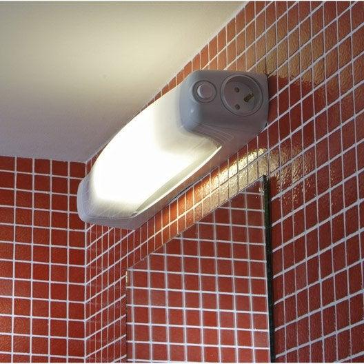 R glette bagno conomie d 39 nergie 1 x 13 w s19 blanc for Reglette salle de bain leroy merlin