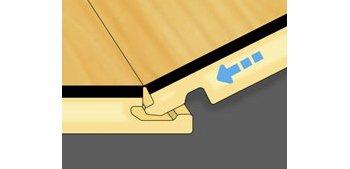 <div><br><br><br><br><br>Durant la pose, ne pas oublier de laisser un espace de dilatation de 0,8 cm de largeur autour de la pièce. Il est possible de s'aider d'un jeu de cales.</div><div><br></div><div><br></div>