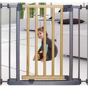 Barrière de sécurité enfant Mercury en métal,  long. min/max 69/73cm, H74.5 cm