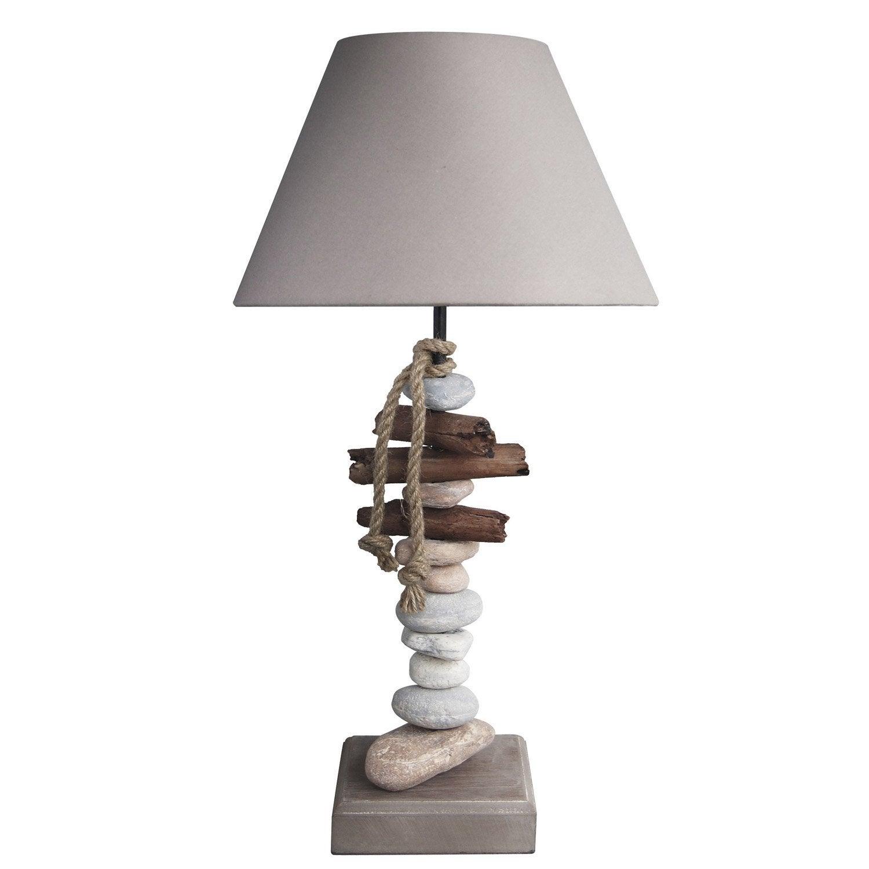 Lampe, e27 Benodet SEYNAVE, coton naturel, 60 W | Leroy Merlin