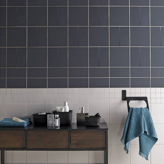 fa ence mur gris gris astuce x cm leroy merlin. Black Bedroom Furniture Sets. Home Design Ideas
