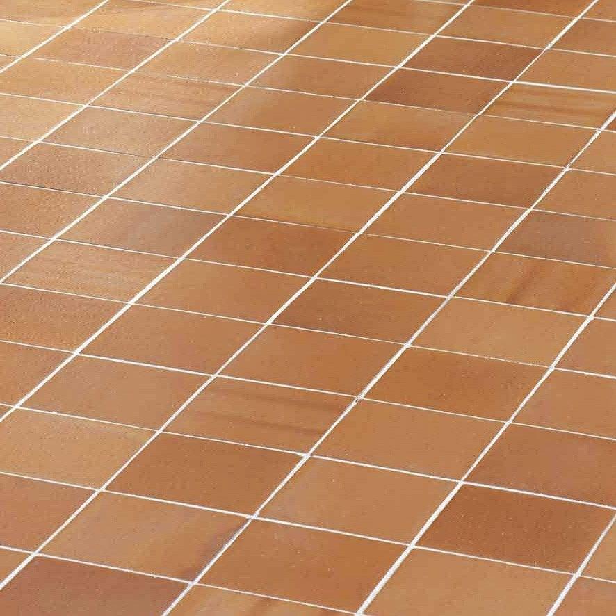 Terre cuite sol et mur roux effet pierre Rairies horizon l.16 x L.16 cm