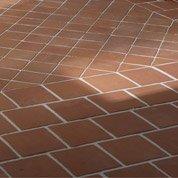 Terre cuite sol et mur rose foncé effet pierre Rairies origine l.16 x L.16 cm