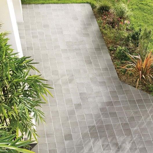 terre cuite sol et mur gris effet pierre rairies x cm leroy merlin. Black Bedroom Furniture Sets. Home Design Ideas