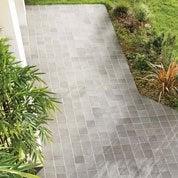 Terre cuite sol et mur gris effet pierre Rairies liberti l.16 x L.16 cm