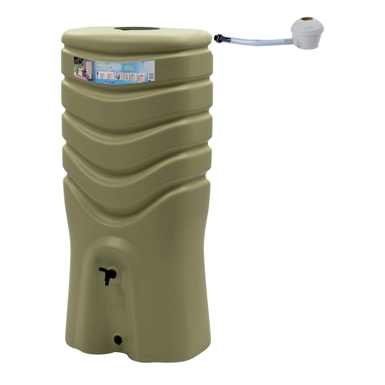 rcuprateur deau et collecteur arien eda rectangulaire vert olive 350 l - Robinet Pour Recuperateur D Eau De Pluie