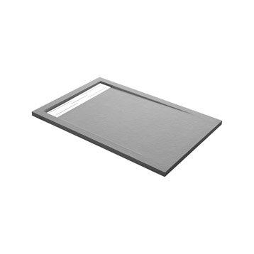Receveur de douche rectangulaire L.120 x l.90 cm, résine gris Urban
