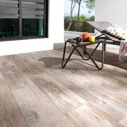 Carrelage brun clair effet bois Heritage l.20 x L.80 cm