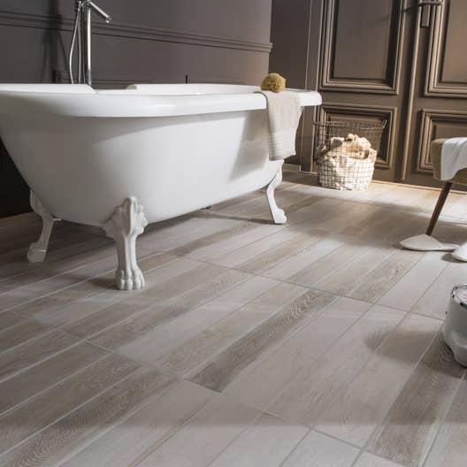 Salle De Bain Mur Blanc ~ carrelage sol et mur blanc effet bois lousiane l 10 x l 70 cm