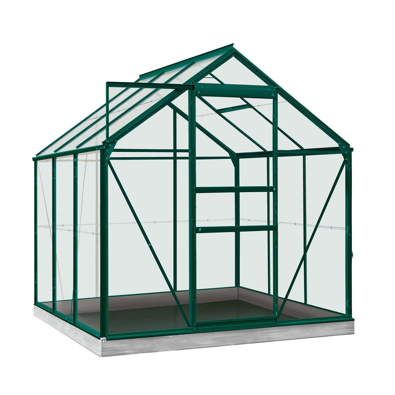 Serre de jardin en polycarbonate simple paroi Rainbow vert, 3.764 m² ...
