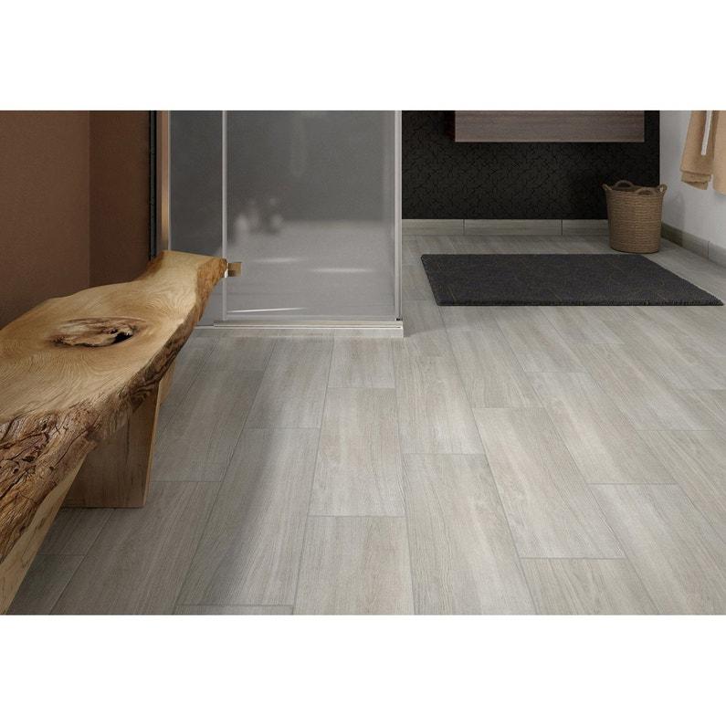 Carrelage sol et mur intenso bois gris perle Helsinka l.20 x L.60 cm ...