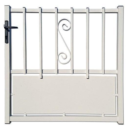 portillon battant portillon rhodes blanc x cm. Black Bedroom Furniture Sets. Home Design Ideas