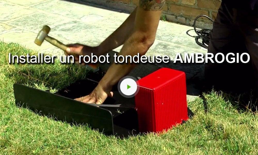 tondeuse robot connect e ambrogio l300r elite 1db 4000 m leroy merlin. Black Bedroom Furniture Sets. Home Design Ideas