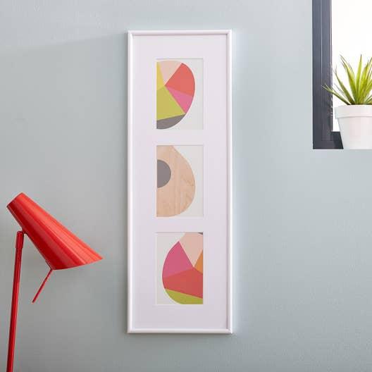 Cadre multivue gallery 20 x 60 cm blanc leroy merlin - Cadre photo multivue ...