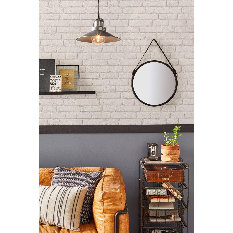 papier peint intiss briques anciennes blanc leroy merlin. Black Bedroom Furniture Sets. Home Design Ideas