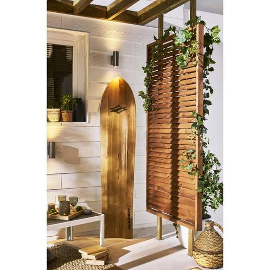 panneau bois persienn vera x cm marron. Black Bedroom Furniture Sets. Home Design Ideas