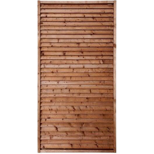 panneau bois persienné vera l90 x h180 cm marron