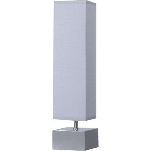 Lampe poser chiara inspire coton gris galet n 3 40 watts - Lampe galet leroy merlin ...