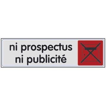 Plaque plexiglass ni prospectus ni pub en plastique