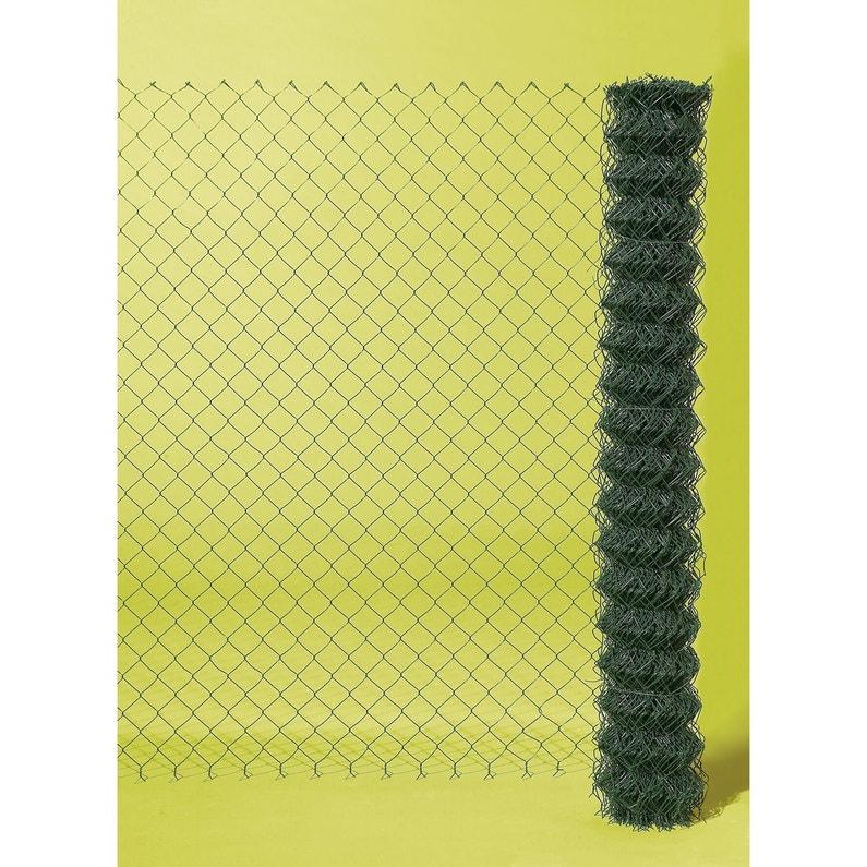 grillage rouleau simple torsion vert h 1 x m maille. Black Bedroom Furniture Sets. Home Design Ideas