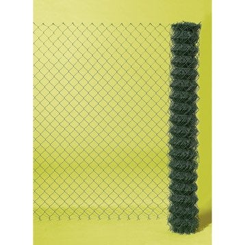 Grillage rouleau simple torsion vert, H.1.2 x L.20 m, maille H.50 x l.50 mm