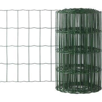 Bordure grillagée soudé vert ,H.0.4 x L.10 m H.100 x l.63 mm