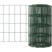 Grillage soudé vert H.0.4 x L.10 m, maille de H.100 x l.63 mm