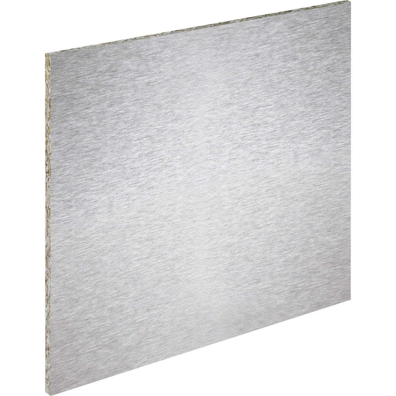 cr dence stratifi fa on inox magn tique cm x cm leroy merlin. Black Bedroom Furniture Sets. Home Design Ideas