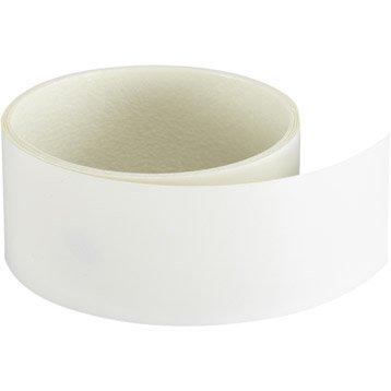 Chant de plan de travail stratifié Blanc Mat L.132, Ep.0.3 mm